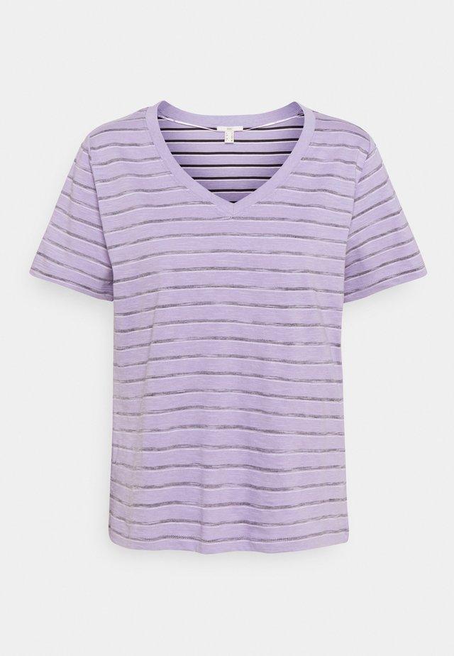 STRIPE - T-shirt print - purple/purple