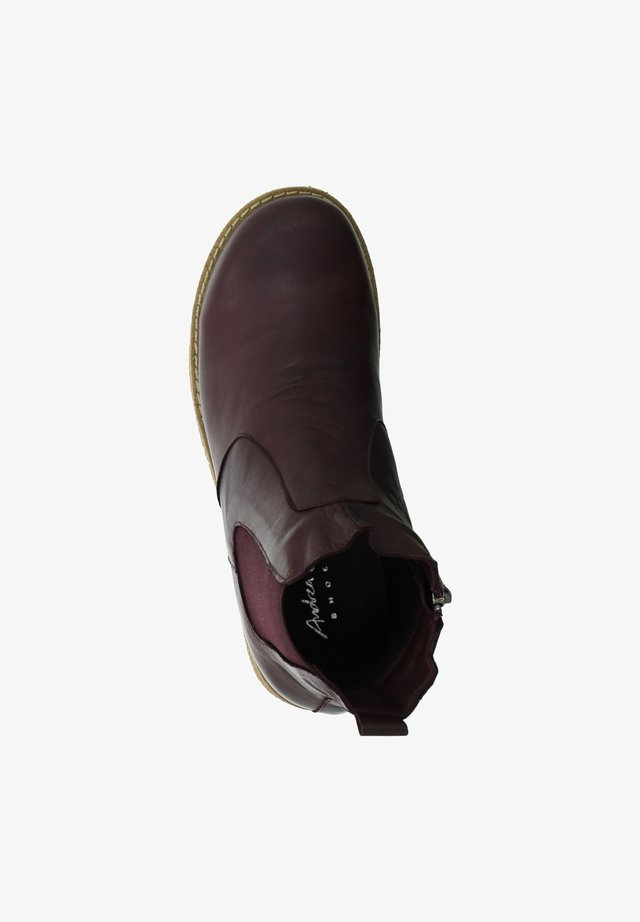 Classic ankle boots - burgund