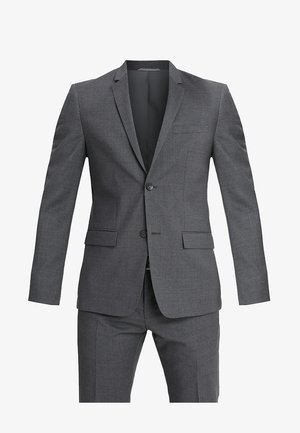 WOOL NATURAL STRETCH FITTED SUIT - Completo - asphalt
