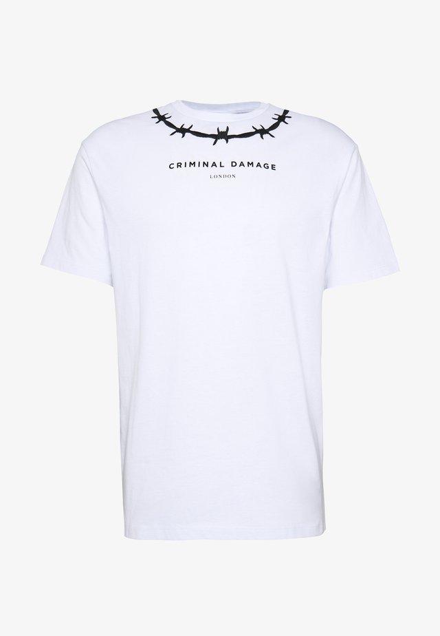 WIRE TEE - T-shirt imprimé - white