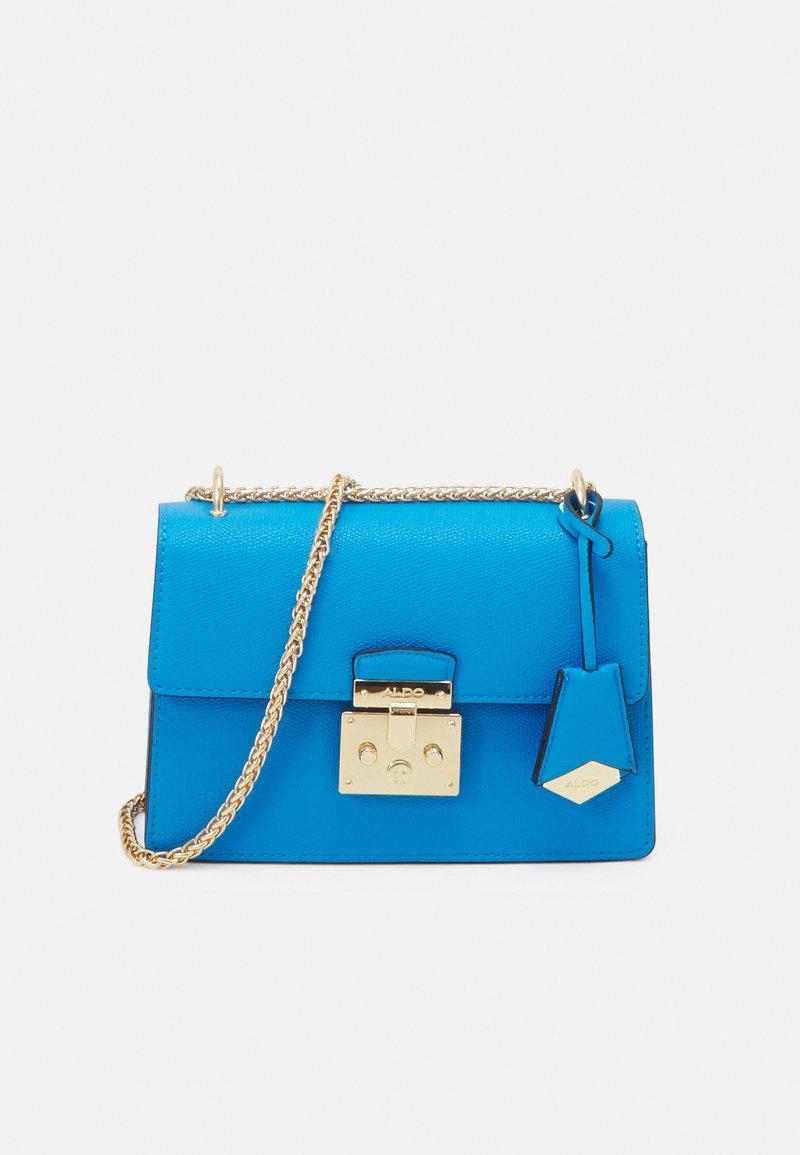 ALDO - CRIWIEL - Across body bag - diva blue/gold-coloured