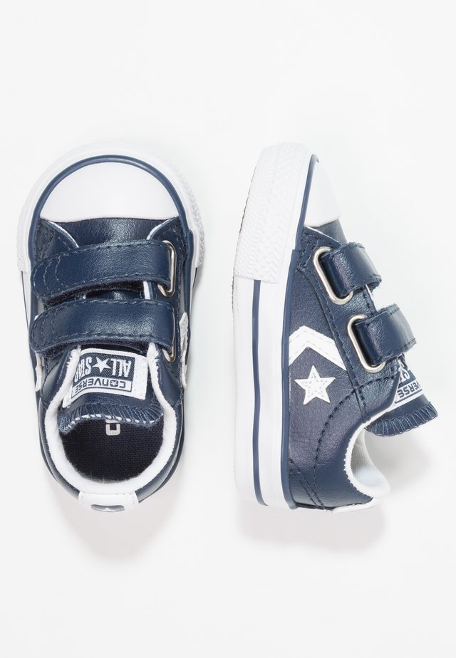 STAR PLAYER INFANT - Baby shoes - navy/white