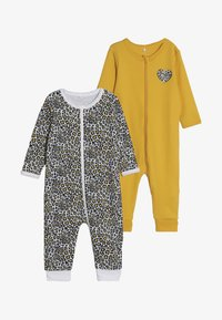 Name it - NBFNIGHTSUIT ZIP 2 PACK - Pijama - golden rod - 4