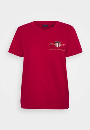 ARCHIVE SHIELD  - T-shirt con stampa - raspberry red