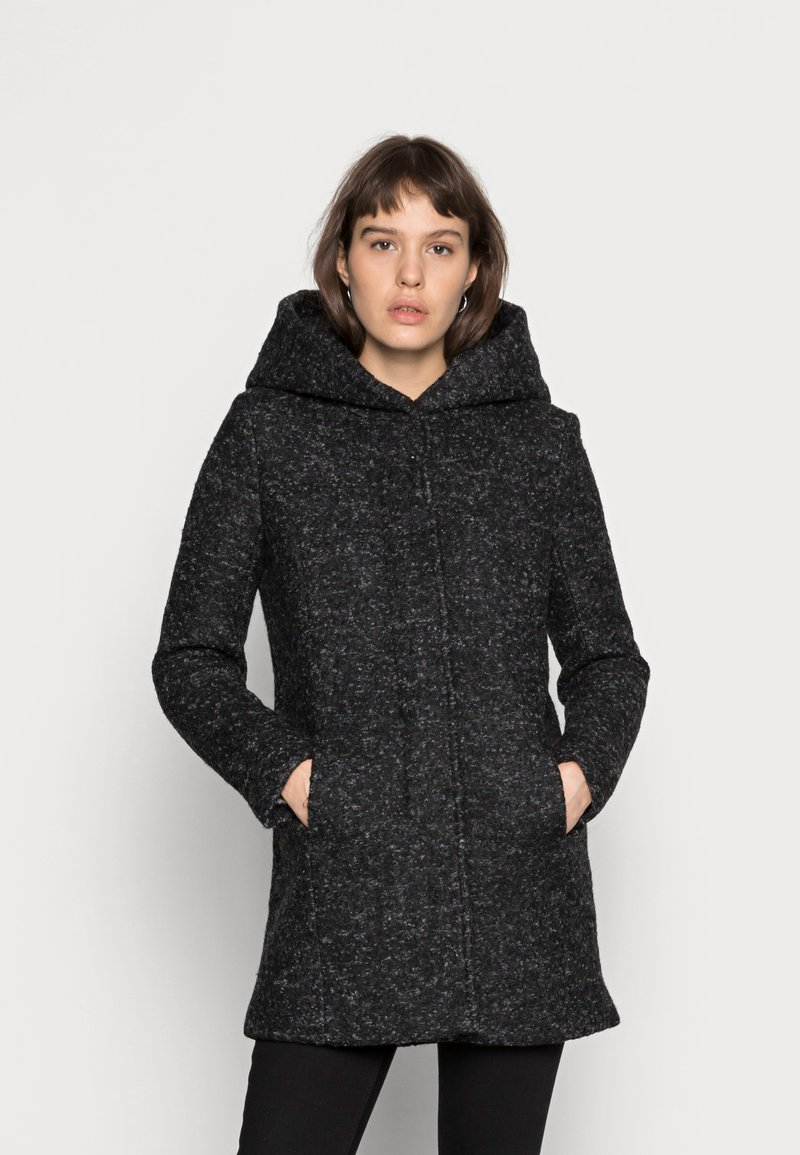 ONLY - Klasický kabát - black/melange