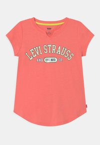 Levi's® - NOTCHED UNISEX - Print T-shirt - pink - 0