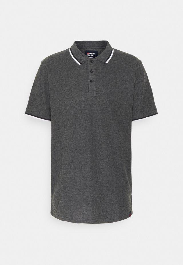 Poloshirt - mottled dark grey