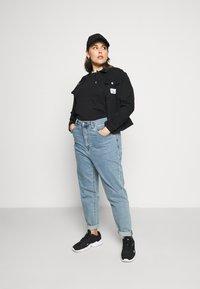 Calvin Klein Jeans Plus - 90S TRUCKER - Denim jacket - black denim - 1