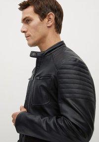 Mango - JOSENO - Leather jacket - black - 4