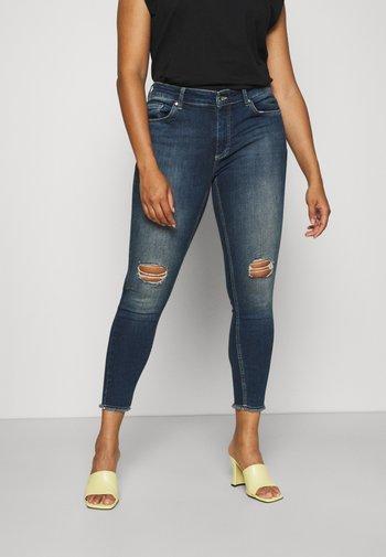CARWILLY - Jeans Skinny Fit - dark blue denim