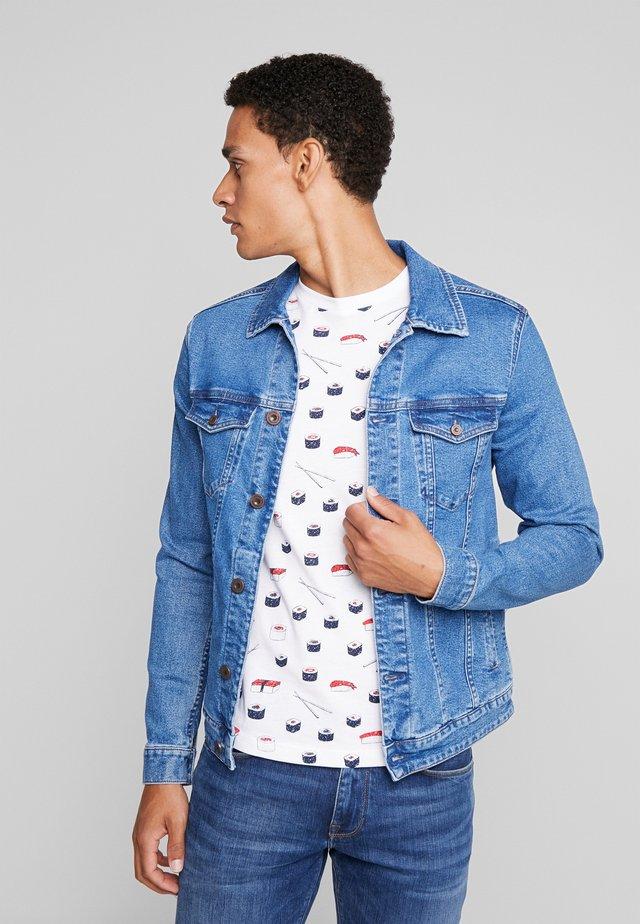 PEGU - Denim jacket - blue denim