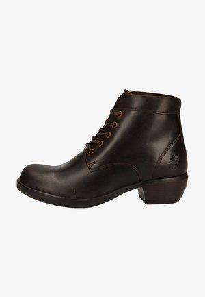 Platform ankle boots - dk. brown