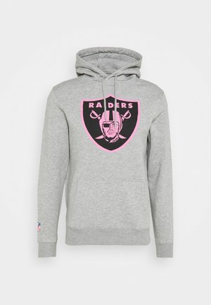 NFL OAKLAND RAIDERS ICONIC REFRESHER GRAPHIC HOODIE - Klubové oblečení - sports grey