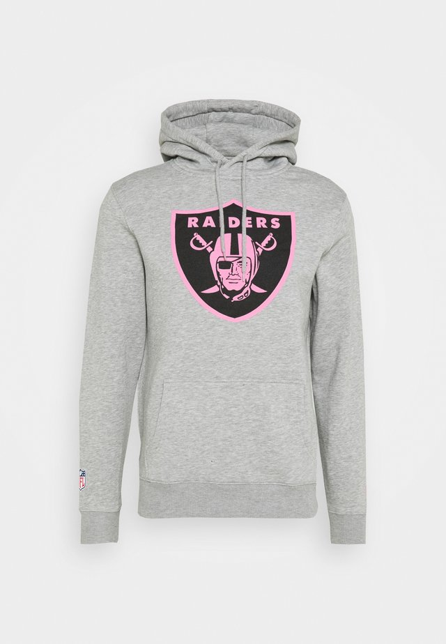 NFL OAKLAND RAIDERS ICONIC REFRESHER GRAPHIC HOODIE - Club wear - sports grey