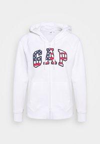 GAP - FLAG - Sudadera con cremallera - white - 3