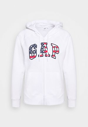 FLAG - Zip-up hoodie - white