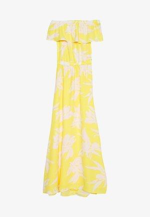 ONLALMA LIFE OFF SHOULDER - Maxi dress - aspen gold/rustic leaf