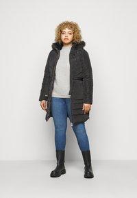 CAPSULE by Simply Be - LUXE LONGLINE PADDED COAT - Winter coat - black - 1