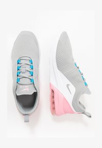 light smoke grey/metallic silver/pink/laser blue