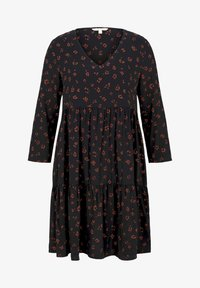TOM TAILOR DENIM - Day dress - black rust flower print - 5
