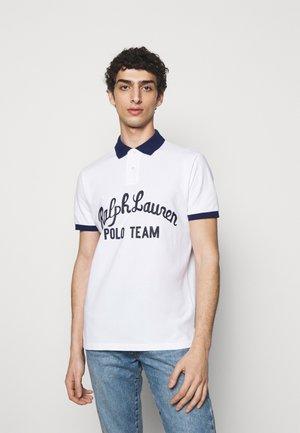 BASIC MESH - Polo shirt - white multi