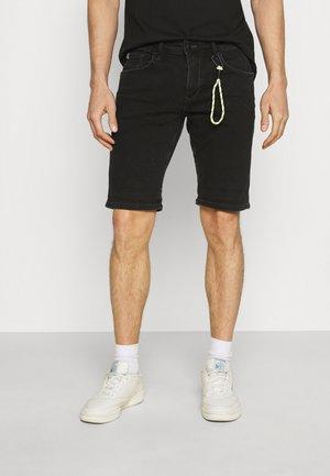 REGULAR FIT - Jeansshort - black denim