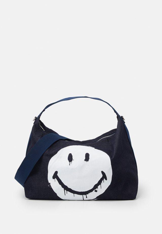 ART HOBO BAG - Shopping bag - blue denim