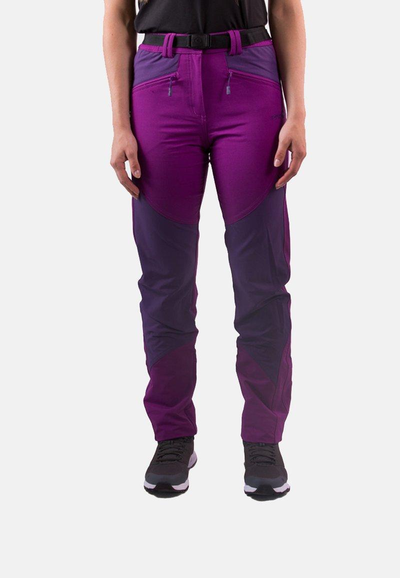 IZAS - Tracksuit bottoms - purple/dark purple