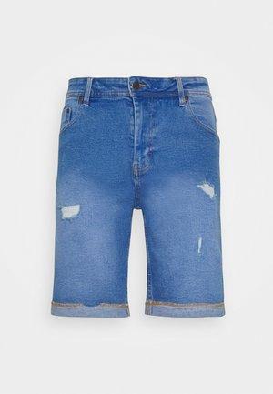 ORANGE DESTROY - Jeansshort - royal blue