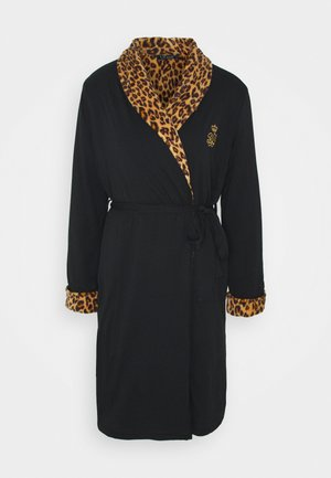 LONG ROBE - Dressing gown - black