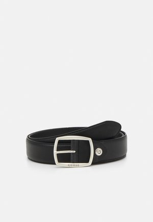 BELT ROUNDED SQUARE BUCKLE - Pasek - black