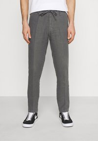 Marc O'Polo - TAPERED FIT PATCHED - Trousers - gray - 0