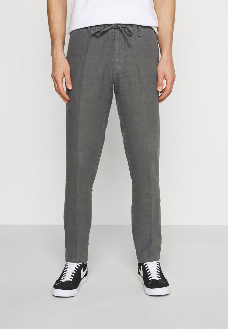 Marc O'Polo - TAPERED FIT PATCHED - Trousers - gray