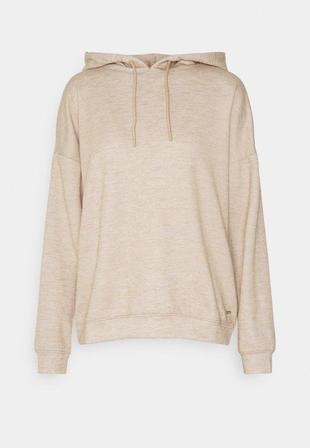 Hoodie - cozy beige melange