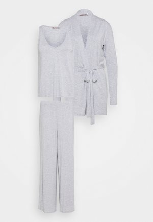 3 PIECE LOUNGE SET - Pyjama set - mottled light grey