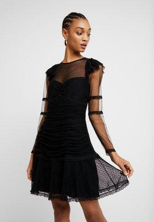 SHEER GLORY MINI DRESS - Sukienka letnia - black