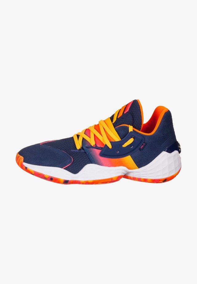 ADIDAS PERFORMANCE HARDEN VOL. 4 BASKETBALLSCHUH HERREN - Chaussures de basket - tech indigo / signal pink / solar gold