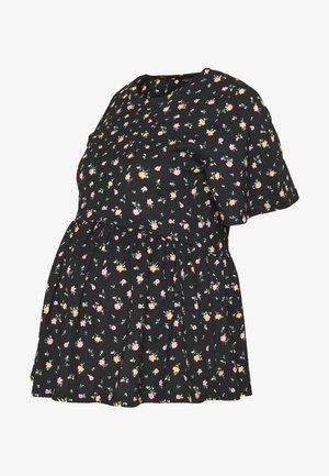 DITSY PEPLUMTOP - Camiseta estampada - black