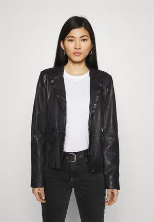 RESET - Veste en cuir - black