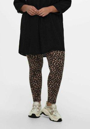 Leggings - Trousers - brown stone
