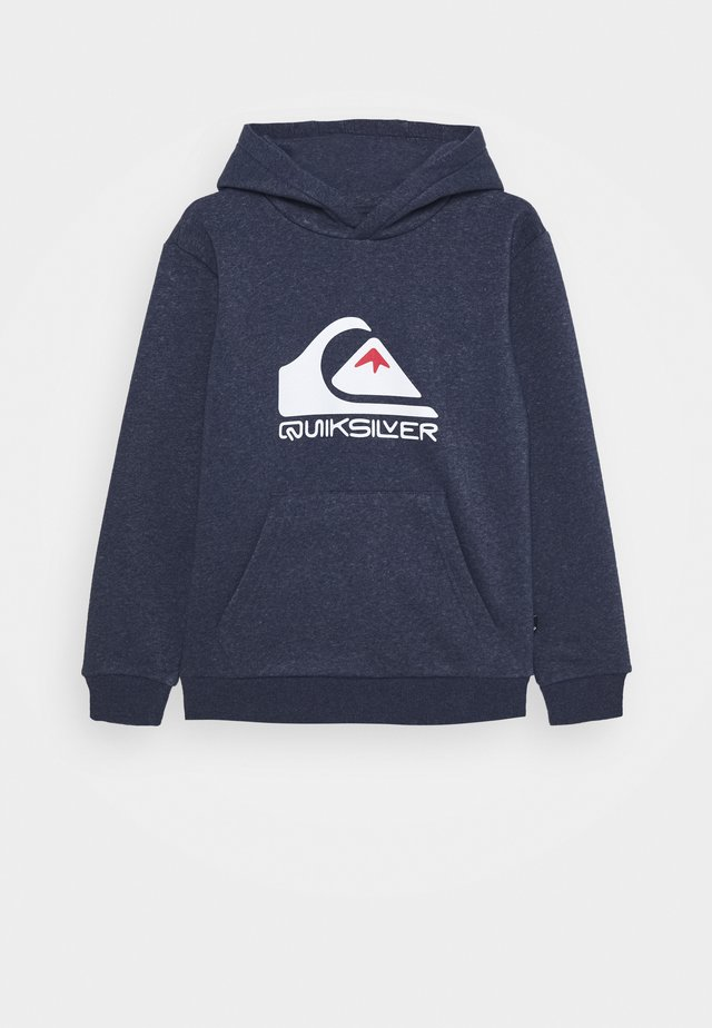BIG LOGO HOOD YOUTH - Mikina s kapucí - parisian night heather