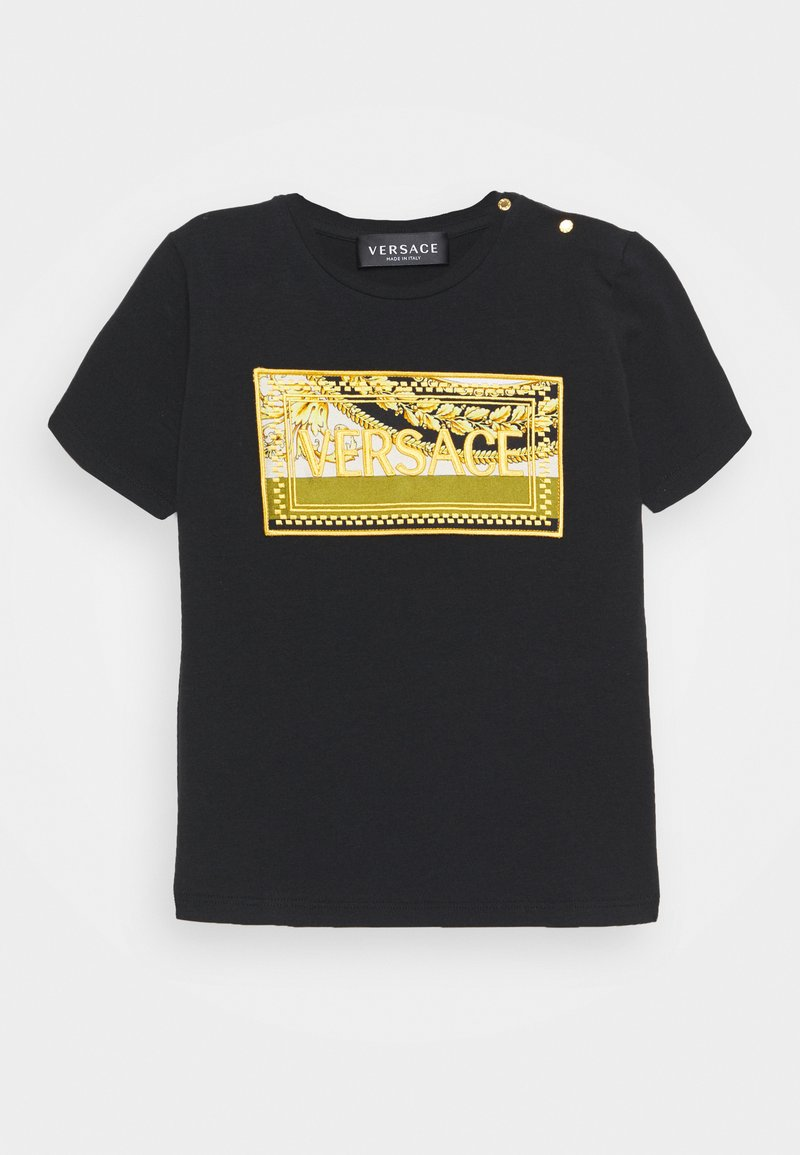 Versace - SHORT SLEEVES BAROQUE MOSAIC KIDS UNISEX - Print T-shirt - black/black/gold