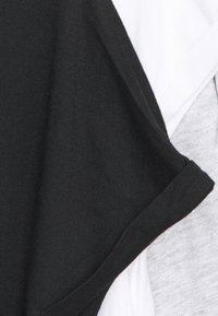 Anna Field - 3 PACK - T-shirts - black/white/mottled light grey - 11