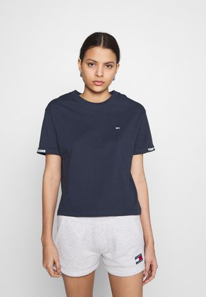 CROP BRANDED TEE - Print T-shirt - twilight navy
