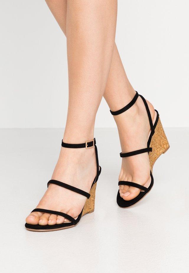 BARTON - High heeled sandals - black
