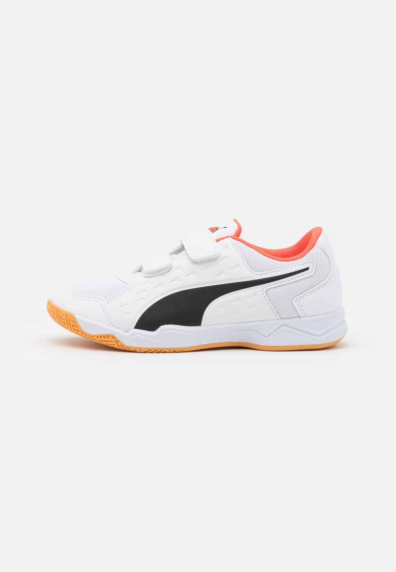 Puma - AURIZ V JR UNISEX - Sports shoes - white/red blast