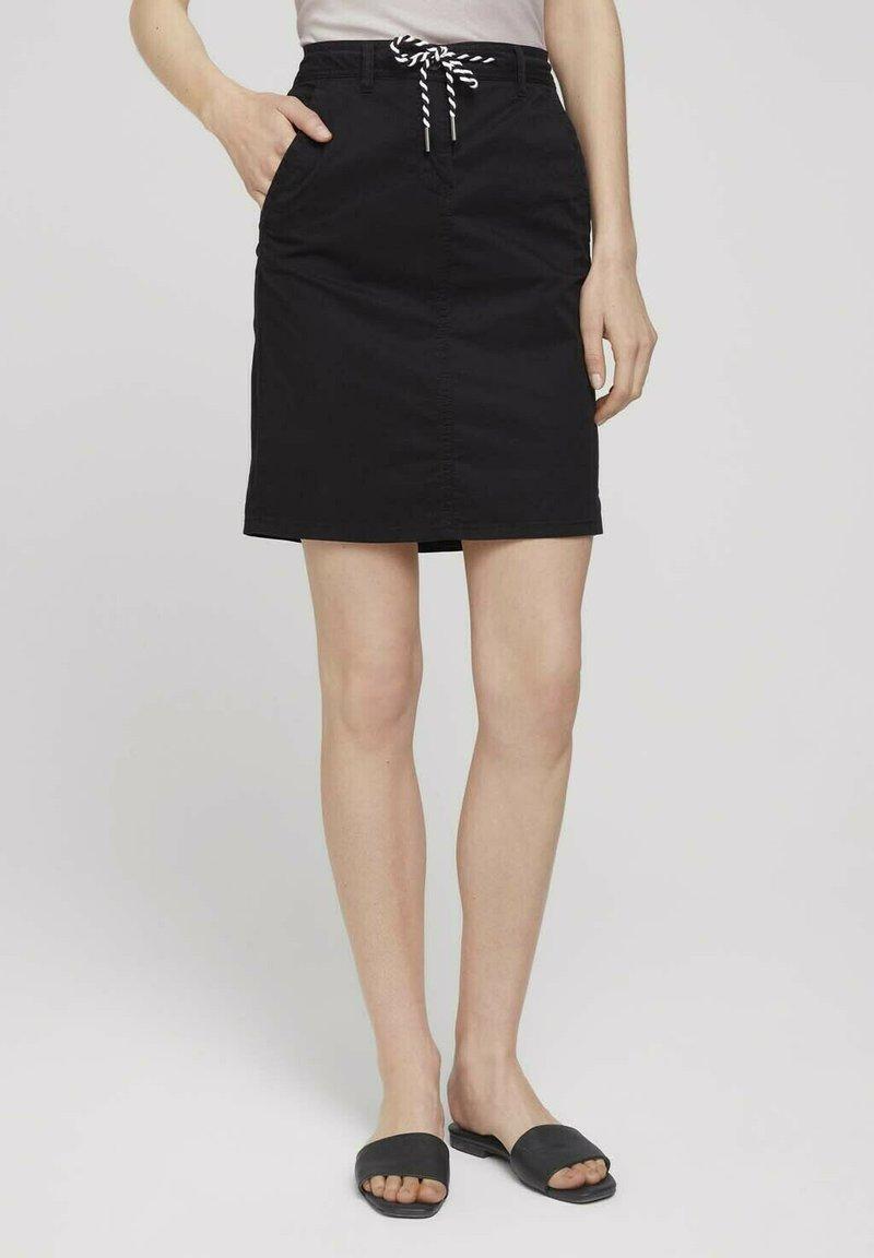TOM TAILOR - Pencil skirt - deep black