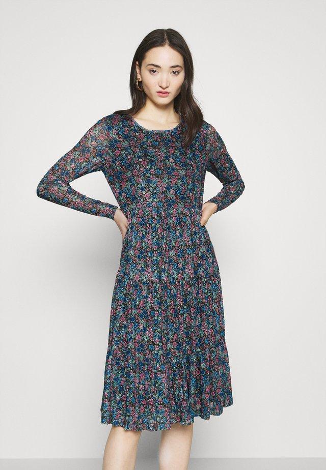 Day dress - black/blue/purple