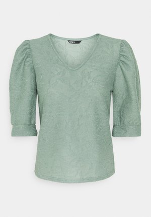 ONLDORA PUFF  - Print T-shirt - chinois green
