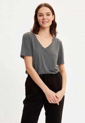 DEFACTO WOMAN BASIC ANTHRACITE - Basic T-shirt - anthracite